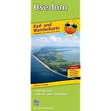 Usedom: Rad- und Wanderkarte mit Ausflugszielen, Einkehr- & Freizeittipps, wetterfest, reissfest, abwischbar, GPS-genau. 1:60000 (Rad- und Wanderkarte / RuWK)