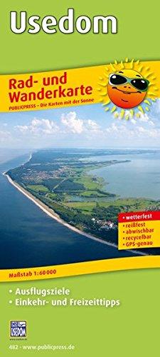 Preisvergleich Produktbild Usedom: Rad- und Wanderkarte mit Ausflugszielen, Einkehr- & Freizeittipps, wetterfest, reissfest, abwischbar, GPS-genau. 1:60000 (Rad- und Wanderkarte / RuWK)