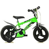 Dino Bikes MTB 412U 12 Pouce KIDSBIKE Boy vélo, Bicyclette, Enfant-Velo, bécane, vélocipède, Rouler en vélo, Faire du vélo.Bleu.stabilisateurs.bidon.gardeboue. 12pouce 2-5 Ans 85-110cm