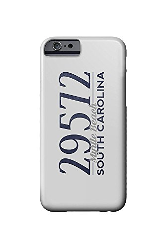 South Carolina Womens Zip (Myrtle Beach, South Carolina - 29572 Zip Code (Blue) (iPhone 6 Cell Phone Case, Slim Barely There))