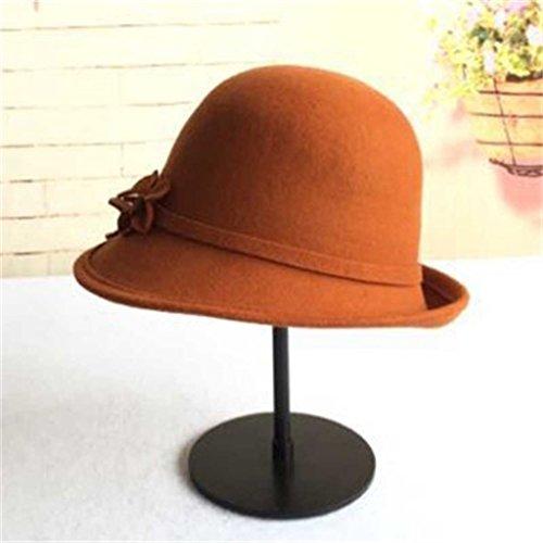 Automne Et Hiver Femme élégante Mode Retro Belle Chapeau De Fleur Etanche Restez Chapeau Chaud ( couleur : #1 ) # 2