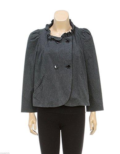 isabel-marant-etoile-gray-double-breast-ruffle-collar-jacket-size-1