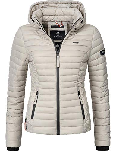 Marikoo Damen Übergangs-Jacke Steppjacke Samtpfote Light Grey Gr. S