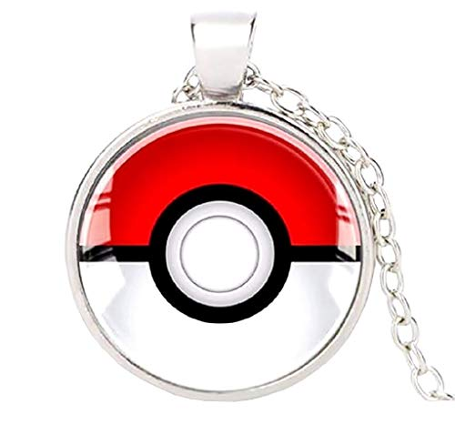 te Pkmn2 - Pokemon Go-Halskette Poke 'Pokeball Ball (Rot - Schwarz) ()