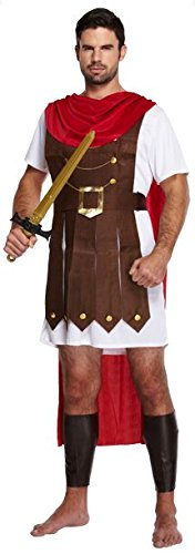 Mens Erwachsene Roman Allgemeine Gladiator Spartan Kämpfer Kostüm Outfit