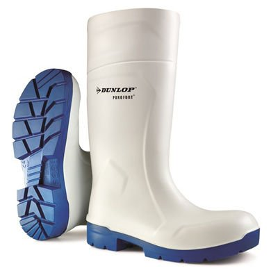 Dunlop Purofort Safety Wellies White Welly Wellington Boots Shock Absorbing