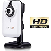 HD 720P WiFi IP Camera - Telecamera senza fili CCTV - Registrazione video sorveglianza - Day & Night Vision - Motion e rilevamento audio - 1280 x 720 - Slot SD Card - App gratis