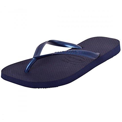 Havaianas Tongs femme Plage Vacances Chaussures Sandales de piscine pour homme slim Spirit - Navy Blue Slim