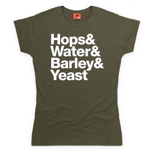 Beer Ingredients T-Shirt, Damen Olivgrn