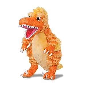 Dinosaur Roar Boo The Deinonychus 61235, Juguete Blando Naranja para niños, Museo de Historia Natural