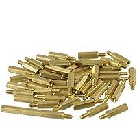 Sourcingmap a12092200ux0096-50 piezas de tornillo pcb enfrentamiento separador hexagonal m3 masculina longitud 15 mm hembra x m3