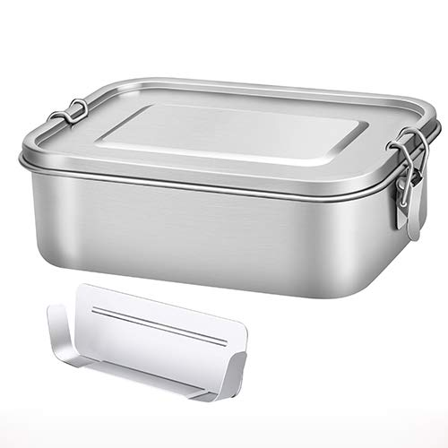 ECO Brotbox Bento Classic 1100 ml Fiambrera de Acero Inoxidable con Separador