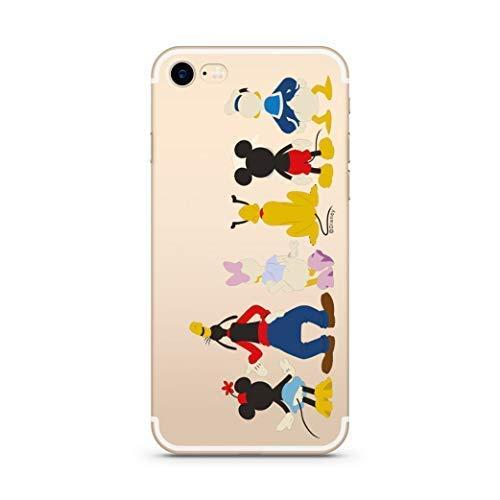 Hülle für iPhone 7/8 - Disney Handyhülle mit Motiv und Optimalen Schutz TPU Silikon Tasche Case Cover Schutzhülle - Disney Freunde Hinten