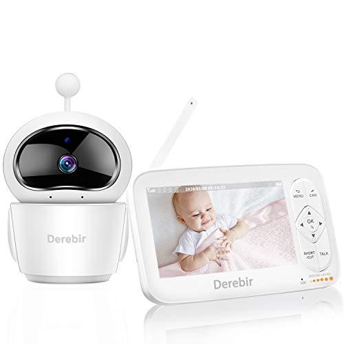 Vigilabebés con Cámara Bebé Monitor Inalámbrico Video 720P HD 5