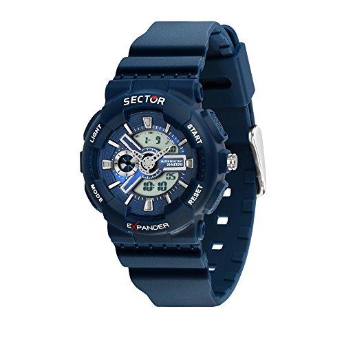 Sector NO Limits Reloj Analógico-Digital para Hombre de Cuarzo con Correa en Plástico R3251515001