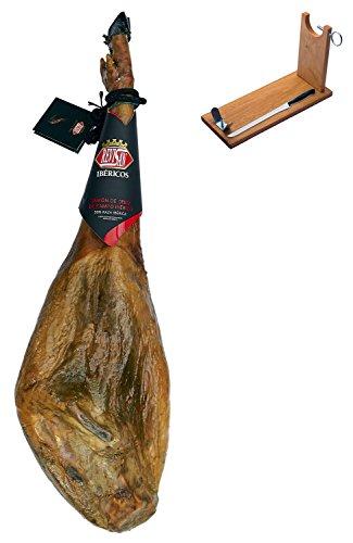 Jamón ibérico de cebo de campo Revisan Ibéricos entero + jamonero + cuchillo 6.5 - 7 Kg