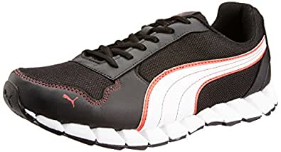 Puma Men's Kevler 2 Dp Black, White and High Risk Red Running Shoes - 10UK/India (44.5EU)
