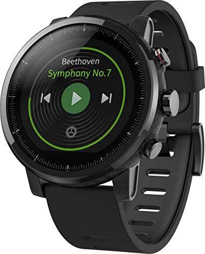 Xiaomi Unisexu00a0u2013 Erwachsene Mi Amazfit Stratos Smartwatch EU/D Version Fitnesstracker Schwarz One Size