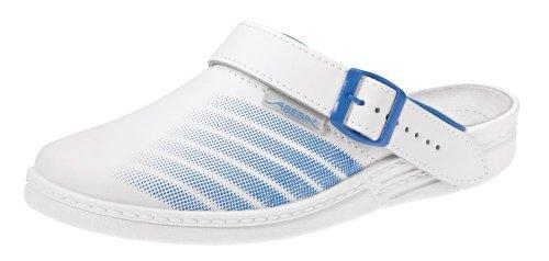 Abeba Originale Zoccoli Bianco / Blu Bianco