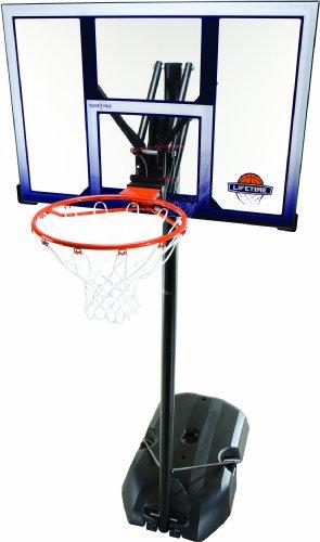 Lifetime Panier de basket sur pied avec armature métallique/panneau de 112cm en polyéthylène haute densité