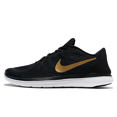 Nike Mens Flex 2017 Rn Running Shoe (11.5 D(M) US, Black/Metallic Gold-white) (Road Tri Schuh)