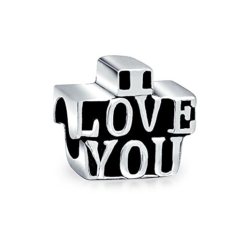 Bling Jewelry Ich liebe Dich aus 925er Sterling-Silber Charm Bead Troll