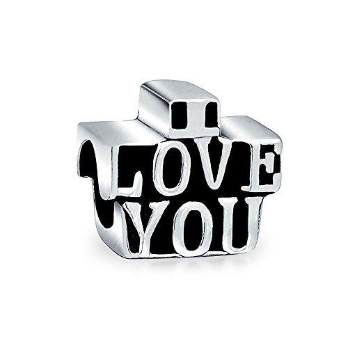 Bling Jewelry Ich liebe Dich aus 925er Sterling-Silber Charm Bead Troll