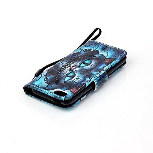 Hülle für Apple iPhone 5 5S SE - Yihya PU Leder Schutzhülle Handyhülle Magnetic Closure Style Flip Wallet [Stand Function] Cover Case mit Cards Slots und Lanyard Strap + Stylus Pen--Stil 09 Stil 18