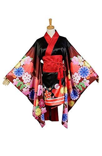 Super Sonico Kimono Kostüm Cosplay Damen (Super Kostüm Sonico Cosplay)