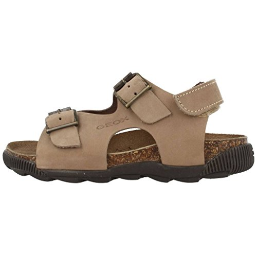 Geox J Sand Storm A mixte enfant, nubuck, sandales Taupe