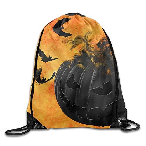 druckte Sportbeutel, Premium Drawstring Gym Bag, Halloween Pumpkin Cute Gym Drawstring Bags Travel Backpack Tote School Rucksack ()
