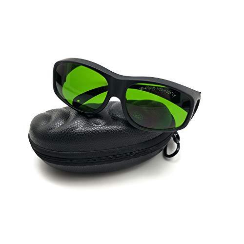MCWlaser Gafas Protectoras de Seguridad láser Gafas para 355 NM 808 NM 980 NM 1064 NM (190-470 y 800-1700 NM) Tipo de absorción EP-8 Gafas para miopía EP-8