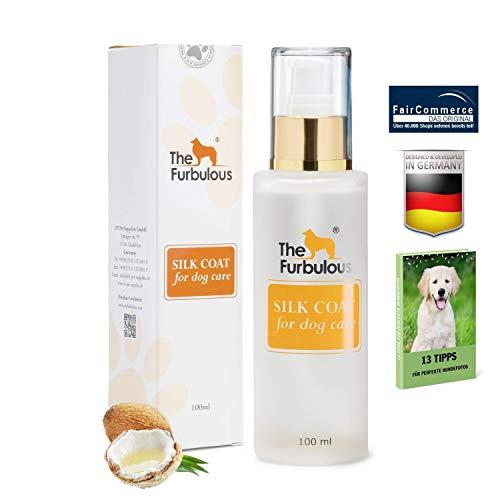 The Furbulous Silk Coat Hundepflegemittel mit Kokosöl - 100 ml hochwertige Tropfen zur natürlichen Fellpflege und Hygiene, Hunde Deo gegen Hundegeruch, bekämpft Verfilzung, Haarausfall & Zecken, Floh -