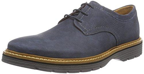 Clarks Newkirk Plain - Zapatos con Cordones de Cuero Hombre, Color Azu
