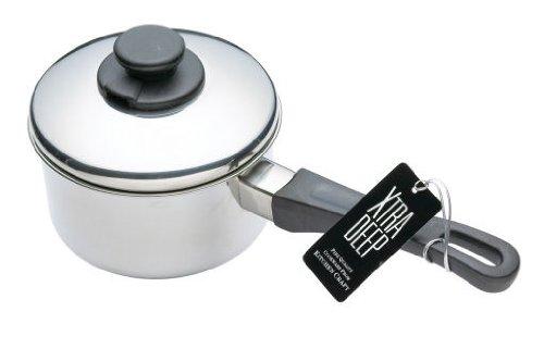 Kitchen Craft Pentola profonda con coperchio in acciaio INOX, 12 cm