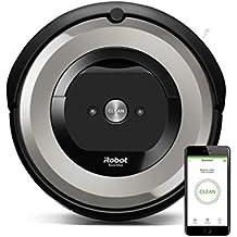 iRobot Roomba e5 Robot Aspirapolvere, Sistema ad Alte Prestazioni con Dirt Detect e Spazzole Tangle-Free, per Pavimenti e Tappeti, Adatto per i Peli degli Animali Domestici, Connessione Wi-Fi, Argento