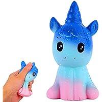 Eholder Squishy Unicornio,Squishys Slow Rising para Niños Y Adultos Squishys Kawaii No Tóxico Juguetes Antiestres Squeeze Toy (Squishy Unicornio)