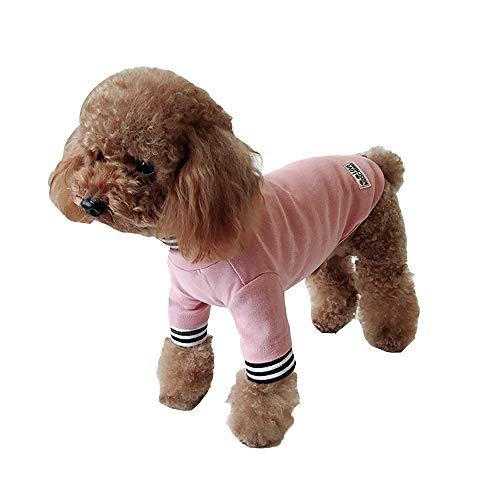 QJKai Hund kleidet Haustier kleidet kleine Hundewelpenkleidung Zwei Fußkleidung