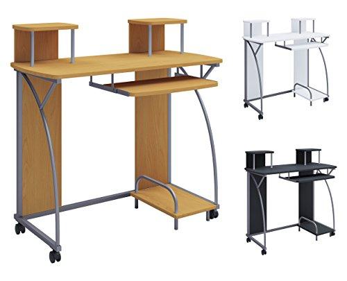 VCM Schreibtisch Computertisch Tastaturauszug Arbeitstisch Büro Möbel PC Tisch Tedos Weiß -