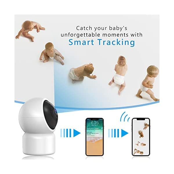 """Baby Camera 1080P IP Camera, JUMPER WLAN Security Camera Pan/Tilt ONVIF IP Cam P2P Network Camera Baby Monitor 2 Way Audio IR-Cut Night Vision Motion Detection Jumper 【 JUMPER 1080P WIFI Baby Cam 】 -- Built-in WiFi module, supports 802.11b / g (supports only 2.4G, no 5G WIFI). Standard H.264 video compression. Network settings through the APP """"YCC365 Plus"""", supports iOS and Android Smartphone/Tablet PC. 【 2,0 Megapixel CMOS Sensor & Intelligent Tracking】 -- Pan:355°/ Tilt:120° , ; Maximum image resolution up to 1080P. This IP camera can recognize people and follow their movement to keep monitor . 【 2 Way Audio & Alarm detection】 --The baby monitor supports 2 way audio (built-in mic & speaker) and micro SD card up to 128G (card is not included). The WiFi IP Camera supports motion detection alarm, push notification alarm, whistle alarm. 4"""