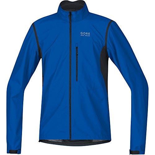 GORE BIKE WEAR Herren Element Windstopper Active Shell Zip-Off Jacke, Brilliant Blau/Schwarz, XL (Paspel Ärmel)