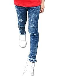 LaoZanA Niñas Jeans Chicas Vaqueros Rectos Mezclilla Pantalones Jeggings  150CM 544f39f56cab