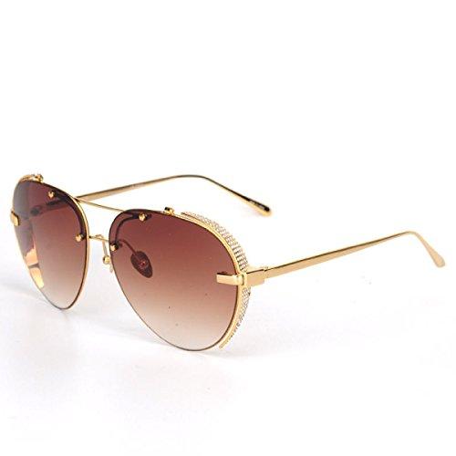 Wkaijc Mode Trends Sonnenbrille Männer Und Frauen Persönlichkeit Piloten Polarisatoren Jurte Farbfilm Sonnenbrillen,D