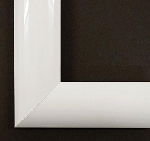 Spiegel Wandspiegel Badspiegel Flurspiegel Garderobenspiegel - Über 200 Größen - OPUS Weiß Hochglanz 4,5 - Größe des Spiegelglases 30 x 90 - Wunschmaße auf Anfrage - Modern, Vintage