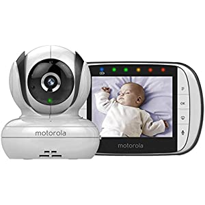 "Motorola MBP36S Video Baby Monitor (NEW 2018 version) Angelcare Portable parent unit with 3.5"" lcd colour display Wired under-the-mattress movement sensor pad Movement and room temperature alerts 12"