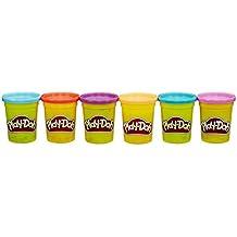 Play-Doh - Pack de 6 colores brillantes (Hasbro B6752EU4)