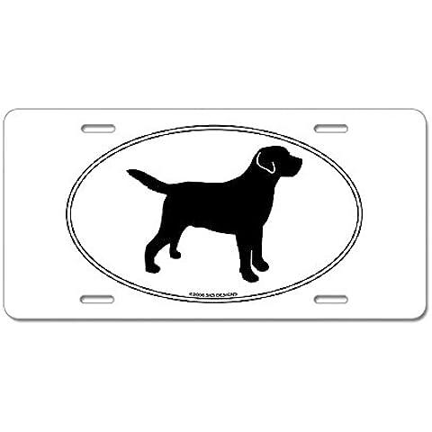 CafePress todos Lab esbozo aluminio placa de licencia–Multi-color estándar