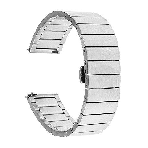 Yallylunn Stainless Steel Metal Clasp Smart Watch Band Strap Kann Mit Kurzen ÄRmeln Kombiniert Werden Reisen for Samsung Gear S3