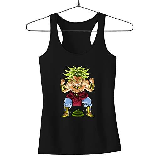 Okiwoki Débardeur Femme Noir Dragon Ball Z - DBZ parodique Broly Le Guerrier millénaire : Super Caca Vol.3 - Le Caca Millénaire (Parodie Dragon Ball Z - DBZ)