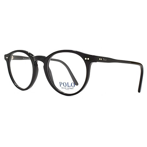 Polo Ralph Lauren ph2083 Gläser in glänzendem Schwarz PH2083 5001 48 Shiny Black Clear 48 (Lauren Ralph Brille Polo)